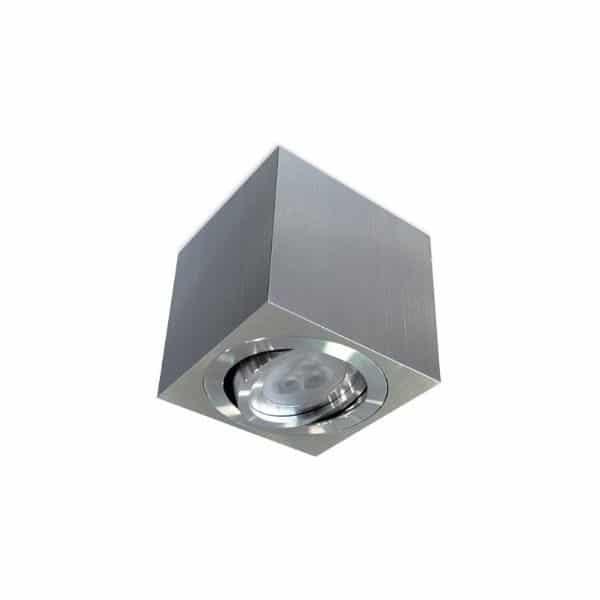 Foco cuadrado orientable aluminio