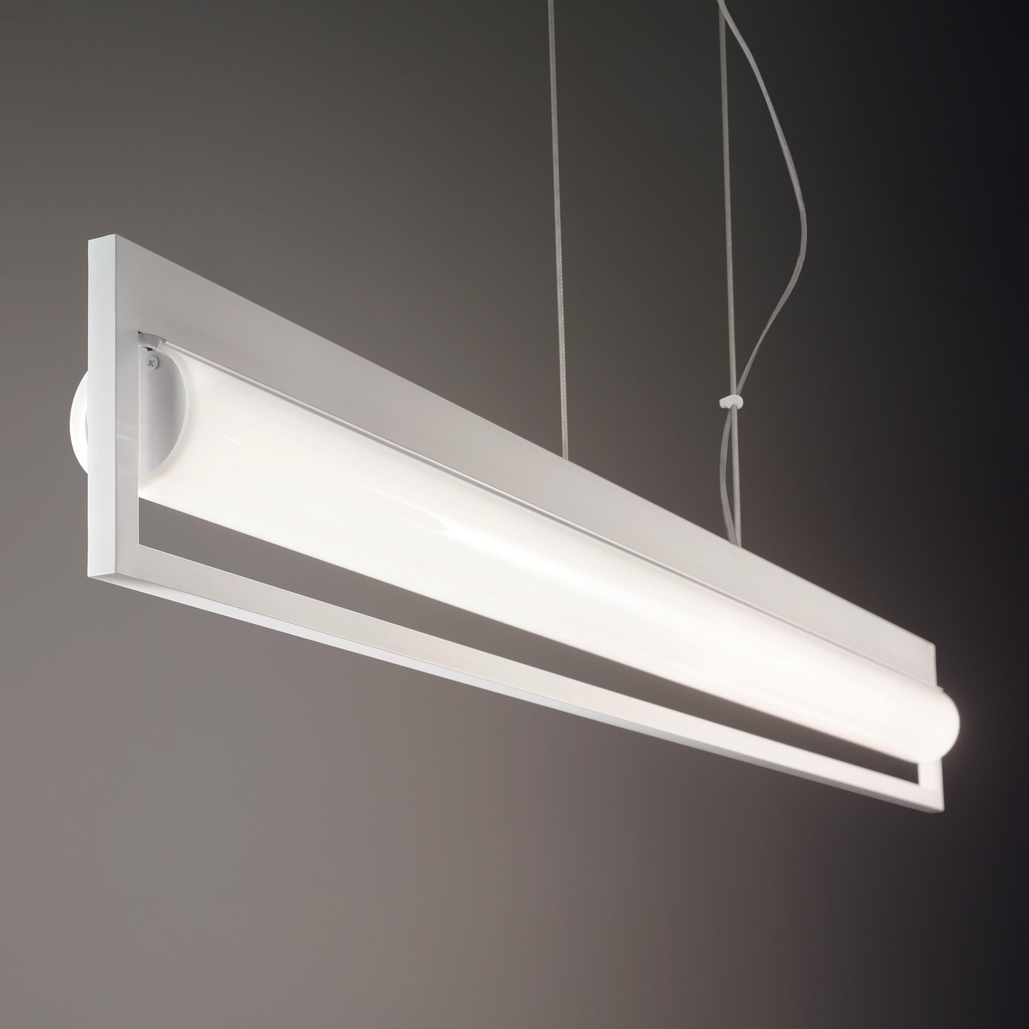 lámpara colgante Subway blanco